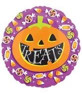 18'' Halloween Pumpkin Treats Balloon
