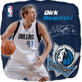 "18"" NBA DIRK NOWITZKI Basketball Balloon"