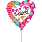 """4"""" Airfill Only Sweetest Day Dots Balloon"""