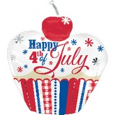 "24"" 4th of July Cupcake"