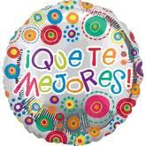 "18"" Que Te Mejores Happy Dots Mylar Balloon"