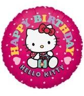 """18"""" Hello Kitty Balloon Pink Happy Birthday"""