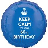 18'' Keep Calm 60th Birthday