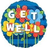 """32"""" Get Well Garden Jumbo Balloon"""