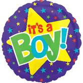 "21"" It's A Boy Balloon Yellow Star"