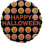 """18"""" Halloween Pumpkin Pattern"""