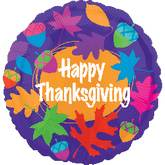 """21"""" Colorful Thanksgiving Leaves Balloons"""
