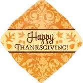 "18"" Traditional Thanksgiving Petite Shape"