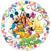 """18"""" Mickey & Friends Party HBD"""