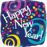 "18"" New Year Bright Swirls Balloon"