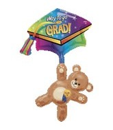 "32"" Graduation Bear and Cap Multi Balloon"