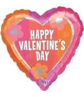"18"" Retro Valentine's Day Hearts/Flowers"