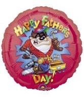 "18"" Happy Father's Day Taz Balloon"