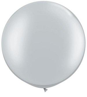 "30""  Qualatex Latex Balloons  SILVER   02CT"