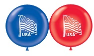"17"" American Flag (Sapphire Blue, Red)"