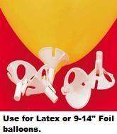 White E-Z Balloon Cups & Sticks (100 Pack)