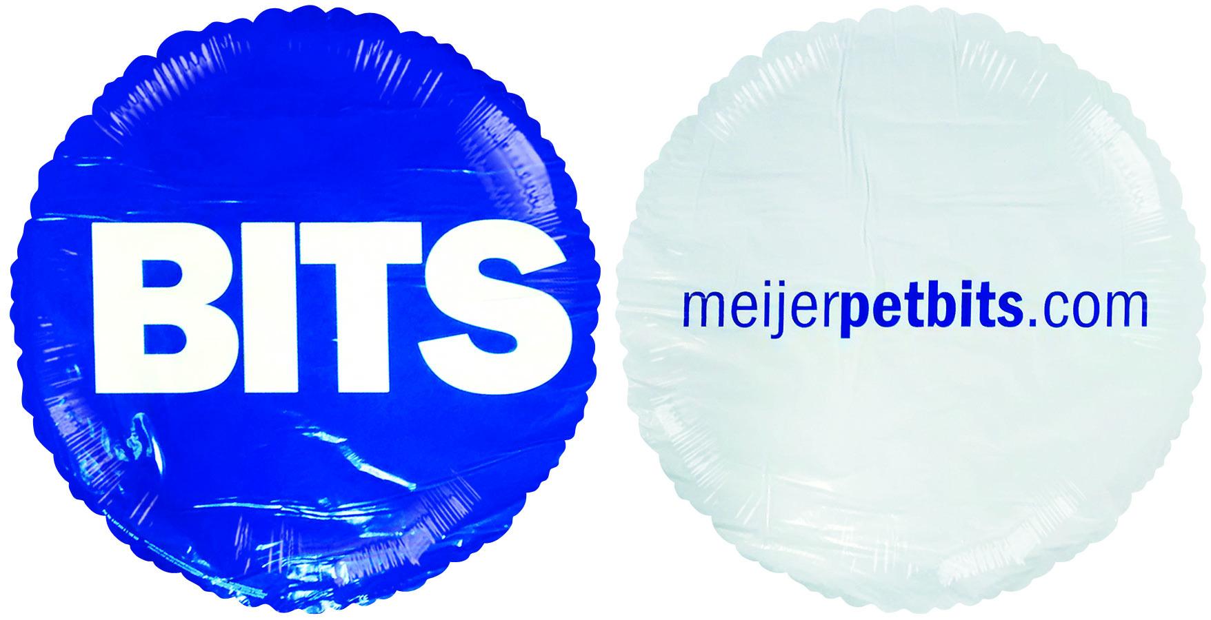 "18"" Meijer Pet Bits Promotional Mylar Balloons"