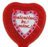 "2"" Airfill Valentine Be Mine Heart Border Balloon"
