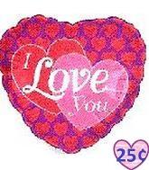 """2"""" Airfill I Love You Hearts On Hearts M364"""