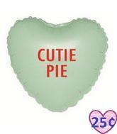 "9"" Airfill Balloon CONVHEARTS CUTIE PIE"