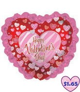 "35"" Happy Valentine's Day Balloon Zebra Hearts"